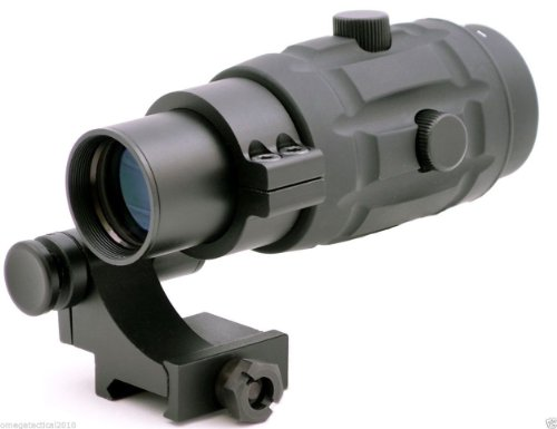Omegamfg Premium 3X Magnifier & 90 Degree Flip To Side Mount For Red Dot Sight
