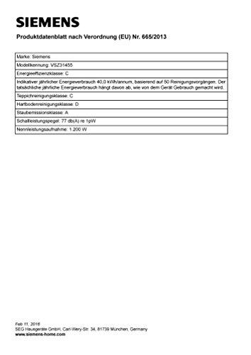 Siemens VSZ31455 Aspirapolvere con sacco, Compressor