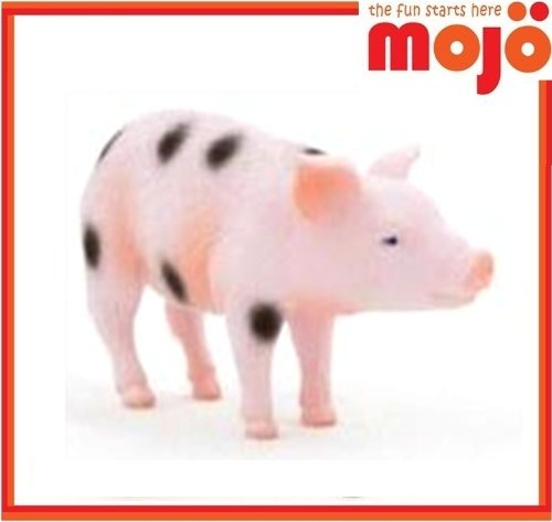 Mojo Fun Black Spotted Gloucester Piglet Standing