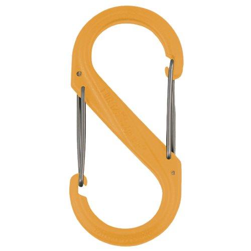 CARABINER, S-BINER PLASTIC nite ize s biner slidelock lsba4 19 r6 orange