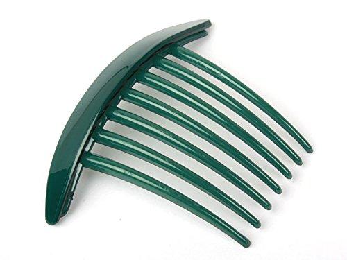 7本櫛 ヘアピン 髪飾り 女性 正装 和装 深緑色