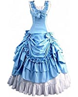Fantasy_Outlet Classy Gothic Victorian Bowknot Ball Dress