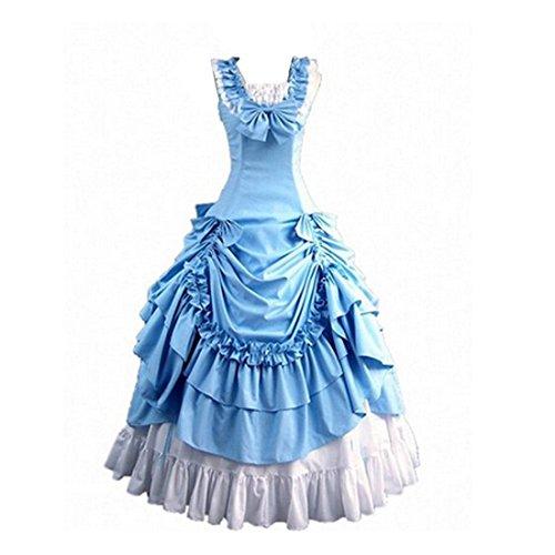 FantasyOutlet-Classy-Gothic-Victorian-Bowknot-Ball-Dress