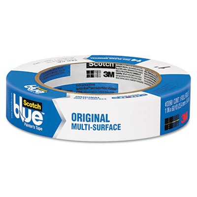 Scotch Products - Scotch - Blue Painters Tape, 1 x 60 yards - Sold As 1 Roll - Painters tape adheres for 14 days and still removes cleanly, even on surfaces exposed to direct sunlight. - For semi-smooth to semi-rough woodwork, glass and metal surfaces. manual tape dispenser for gummed tape w 48oz reservoir steel blades black sold as 1 each