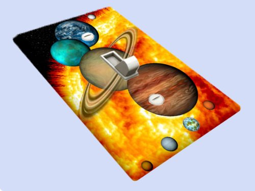 Solar Nine Planets Decorative Switchplate Cover
