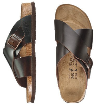 Cheap Birkis slippers Guam in size 36.0 N EU made of Leather in Amalfi Testa Di Moro with a narrow insole (B007CUC17G)