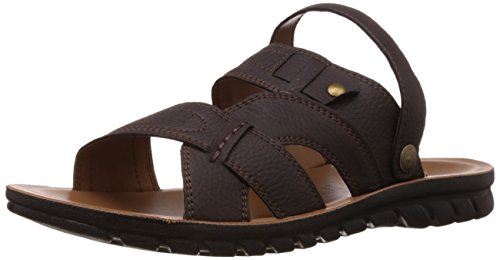FLS (By Franco Leone) Men's Brown Flip Flops Thong Sandals - 10 UK/44 EU  available at amazon for Rs.287