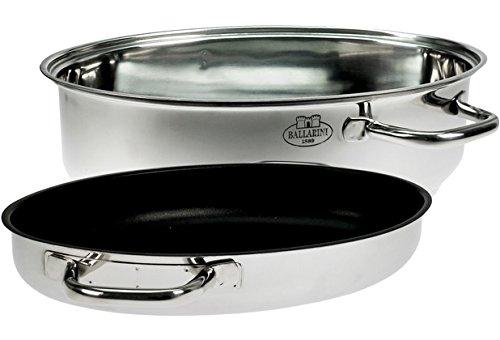 Ballarini ccxyc. 30Pise Marmite Multi-Usages, en acier inoxydable, argent, 15x 20x 30cm