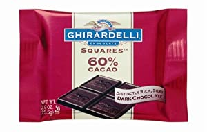 Ghirardelli Chocolate Squares, 60% Cacao Dark Chocolate, 0.09-Ounce Squares (Pack of 22)