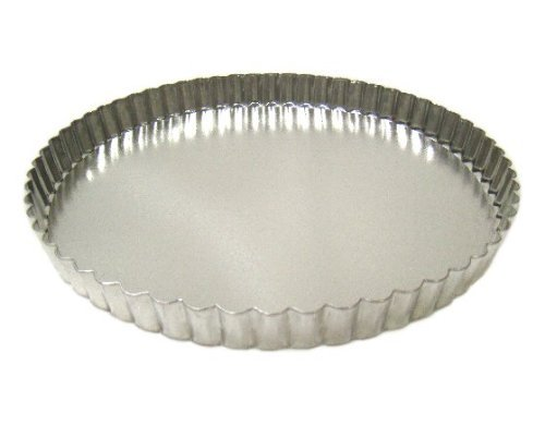1 X Fluted Tart/Quiche Pan with Removable Bottom - 9.5 Inch Diameter by SCI Scandicrafts