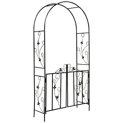 rosenbogen metall mit tor storeamore. Black Bedroom Furniture Sets. Home Design Ideas