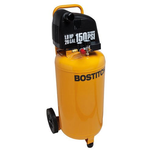 Bostitch BTFP02028 1.8 HP 26-Gallon 150 PSI Oil-Free Air Compressor