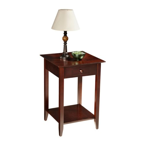 Cheap Convenience Concepts American Heritage End Table with Shelf and Drawer – Espresso (B007ZHZ4AM)