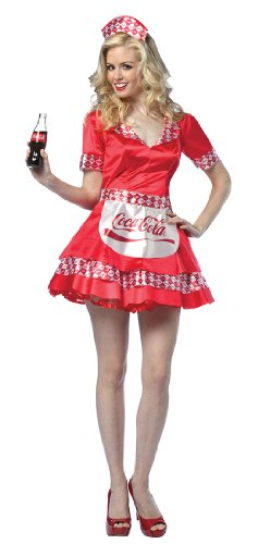 Coca-Cola Soda Girl Adult Costume - Womens 4-10