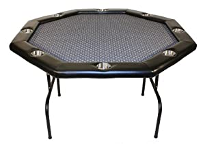 Texas Holdem Poker Table w  Stainless Cup Holders, Suited Speed Cloth, with Folding... by Texas Holdem