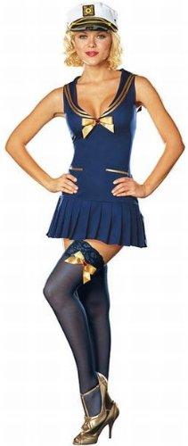 [Sexy Sailor Pin Up Costume - Medium] (Nice Sailor Costumes)