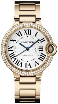 Cartier Ballon Bleu Medium 18k Rose Gold Watch WE9005Z3