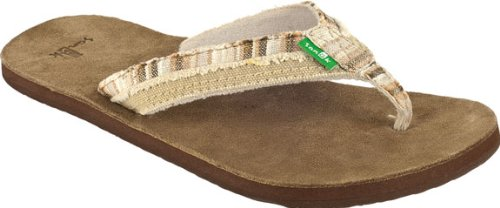 Sanuk Fraid Too Cream 11 Womens Sandals