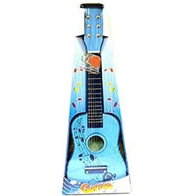 Toyrific Musical Instrument - Wooden Blue Guitar