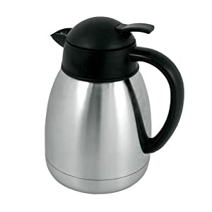 Vacuum Insulated Coffee Server Stainless Steel w Push Button Lid (1.2 Litter 40 Oz.) by Chef Kitchen
