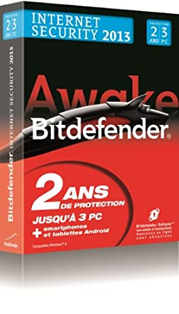 Bitdefender Internet Security 2013 (3 postes, 2 ans)