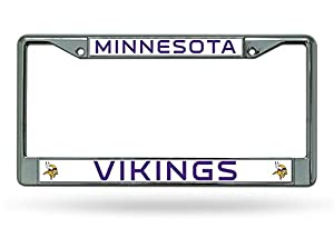 NFL Chrome License Plate Frame from Rico Industries, Inc.