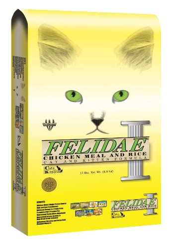 Image of Felidae Dry Cat Food for Adult Cats and Kittens, Chicken, Turkey, Lamb, and Fish Meals, 8 Pound Bag