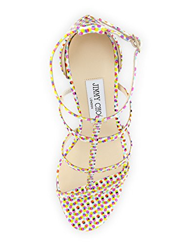 Jimmy Choo Dory Polka Dot Strappy Sandal