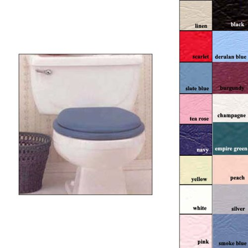 Ginsey Solid Yellow STANDARD Soft Padded Toilet Seat