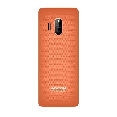 Adcom X17 (Trendy) Dual Sim Mobile- White & Orange