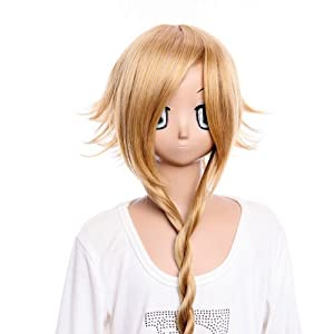 SureWells Cosplay wig Hair wig Party wig SOUL EATER Medusa long shine brown wig cosplay wig Costume wig for party