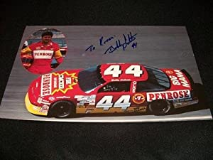 Bobby Labonte Auto Signed Vintage 1991 Photo Stats 11x7 Card C