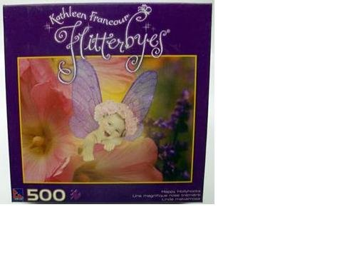 Kathleen Francour Flitterbyes 500 Piece Puzzle - Happy Hollyhocks by Sure-Lox - 1