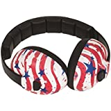 Baby Banz Baby Hearing Protection Earmuffs, USA Print, 0-2 YEARS