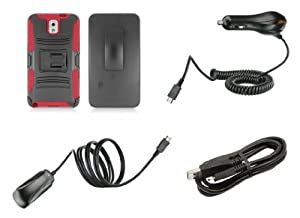 Samsung Galaxy Note 3 - Accessory Kit - Black and Red Dual Layer