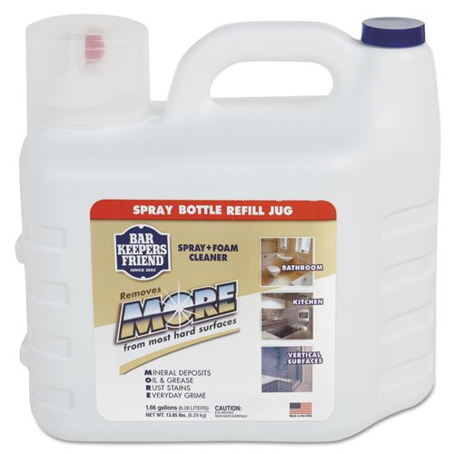 Bar Keepers Friend MORE Spray + Foam Cleaner, 1.66gal Bottle - Includes one 1.66-gal bottle.