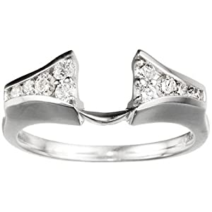 Sterling Silver Ring Wrap Enhancer (0.25 crt. Cubic Zirconia).