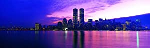 Panoramic Wall Decals - New York City Skyline 9 (4 foot wide Removable Graphic)