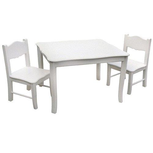 Guidecraft Tisch mit zwei Stühlen für Kinder, weiß günstig
