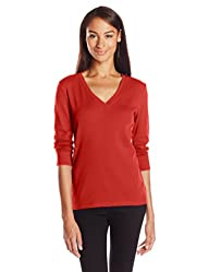 Jones New York Women's 3/4 Sleeve V N…