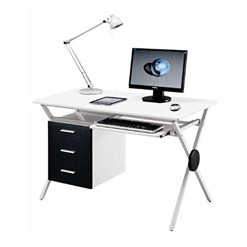 Scrivania in MDF portacomputer per ufficio cameretta 120x60 acero