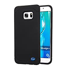 buy S6 Edge Plus Case,Adela Shop 2 In 1 Soft Silicone Shield Hybrid Dual Layer Design,Shockproof Plastics Outer With Rugged Tpu Inner,Hard Armor Slim Cover For Samsung Galaxy S6 Edge+ (2015) (Black+Black)
