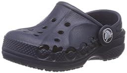 crocs Baya Kids Clog, Navy, 8 M US Toddler