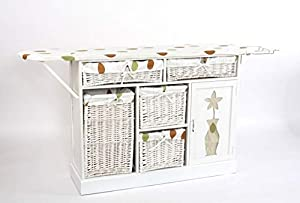 Donregaloweb mueble de madera con la tabla de planchar - Mueble para guardar tabla de planchar ...