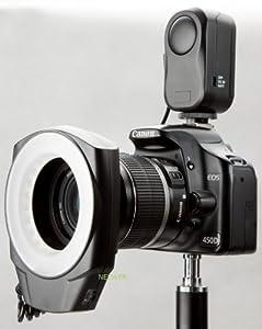 Macro Ring Flash LED Light for 49MM/52MM/55MM/62MM/67MM Camears + 67mm Lens Cap & Holder