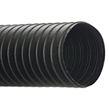 "Hi-Tech Duravent C General Duty Series Neoprene Coated Fabric & Steel Duct Hose, for Use with Air, Black, 4"" ID, 25' Length"