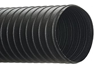 Hi-Tech Duravent C General Duty Series Neoprene Coated Fabric & Steel Duct Hose, for Use with Air, Black