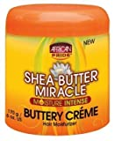 African Pride Shea Butter Miracle Buttery Creme 6oz Jar (2 Pack) by African Pride