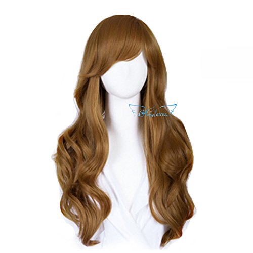 [Angelaicos Womens Good Quality Daily Wear Nightclub Party Costume Fashion Hair Full Wig Long Blonde (Style] (Dancing With The Stars Costumes Designs)