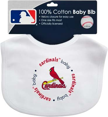 MLB Officially Licensed St. Louis Cardinals Embroidered Baby Bib at Amazon.com